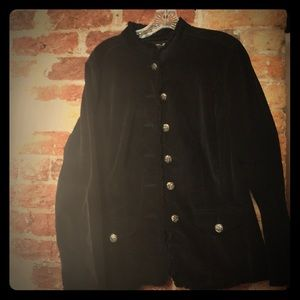 Black needlecord jacket